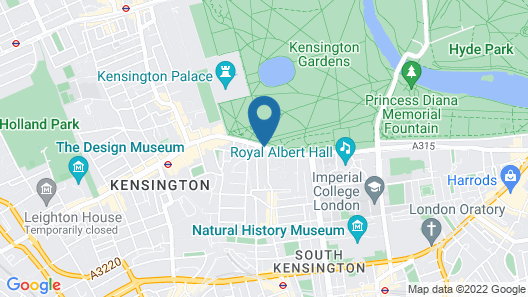 Baglioni Hotel London - The Leading Hotels of the World Map