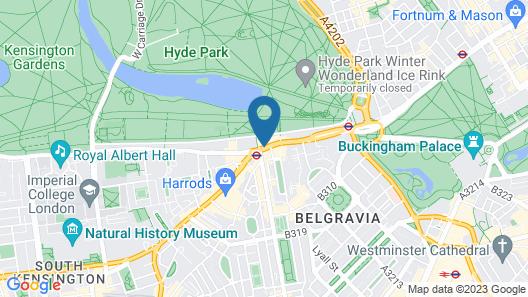 Mandarin Oriental Hyde Park, London Map