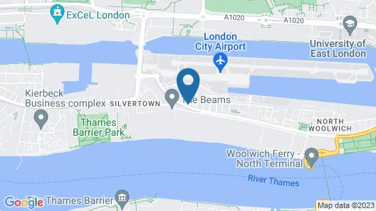 London Waterside Apartment Map
