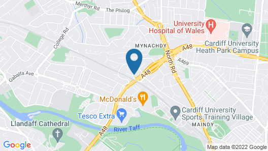 Radyr Place Apartments by Cardiff Holiday Homes Map