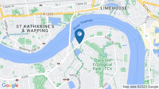 YHA London Thameside - Hostel Map