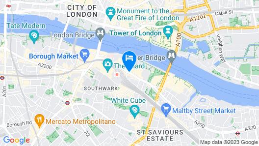 Hilton London Tower Bridge Map