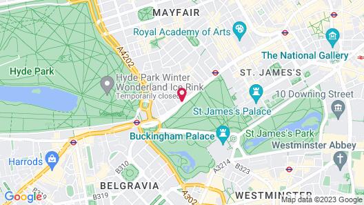 Sheraton Grand London Park Lane Map