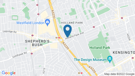 Hilton London Kensington Map