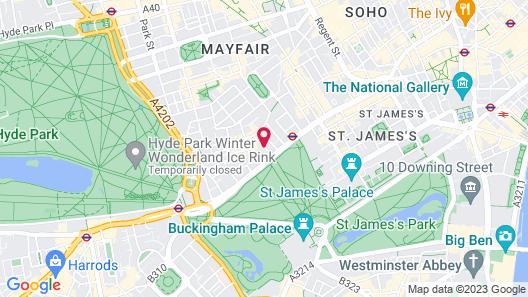 Flemings Mayfair Map