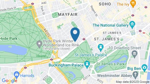Hilton London Green Park Map