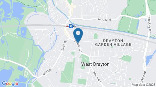 Oakwood Bed and Breakfast Heathrow Map