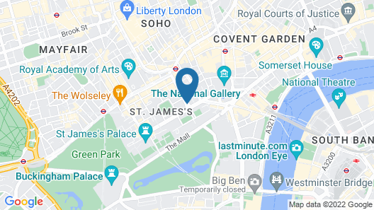 Sofitel London St James Map