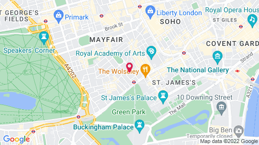 The May Fair, A Radisson Collection Hotel, Mayfair London Map