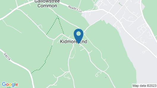 The New Inn - Kidmore End Map