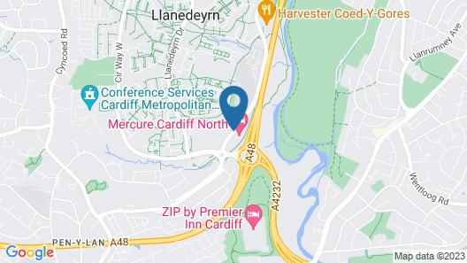 Mercure Cardiff North Hotel Map