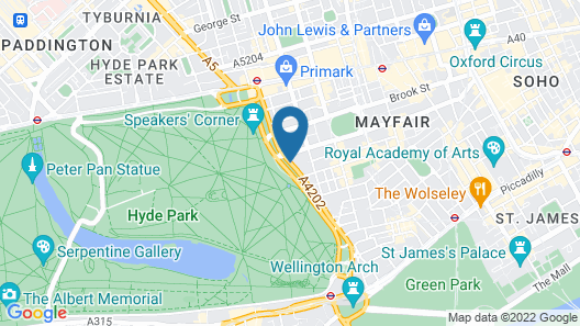 JW Marriott Grosvenor House London Map