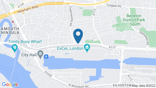 ibis Styles London Excel Map