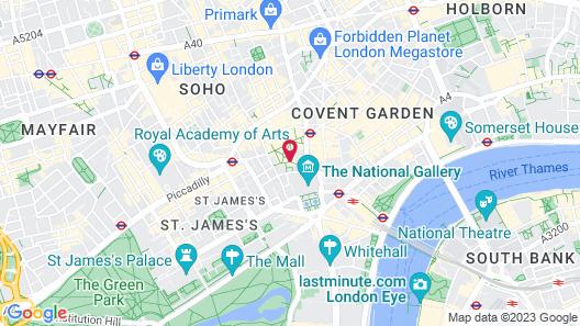 Radisson Blu Edwardian Hampshire Hotel, London Map
