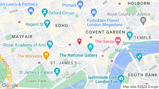 Thistle Piccadilly Map