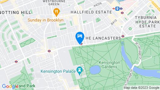 Hilton London Hyde Park Map