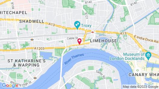 Holiday Inn Express London - Limehouse Map