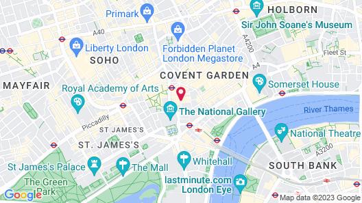 St Martins Lane London Map