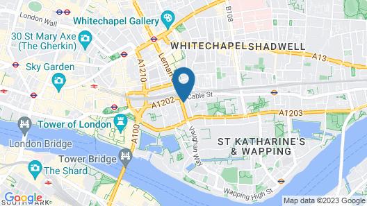 Wombat's City Hostel London Map