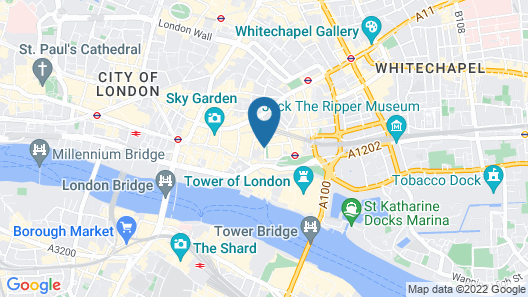 Apex City of London Hotel Map