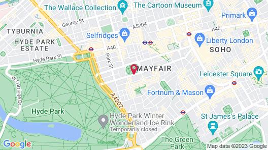 The Biltmore Mayfair, LXR Hotels & Resorts Map