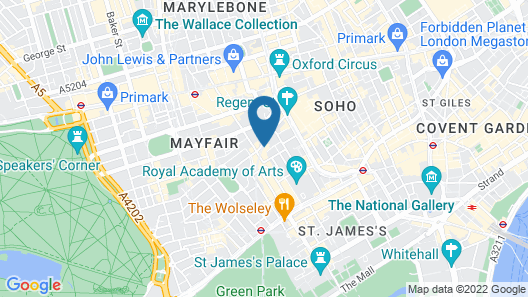 The Westbury Mayfair, a Luxury Collection Hotel, London Map