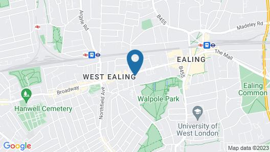 Hampton by Hilton London Ealing Map