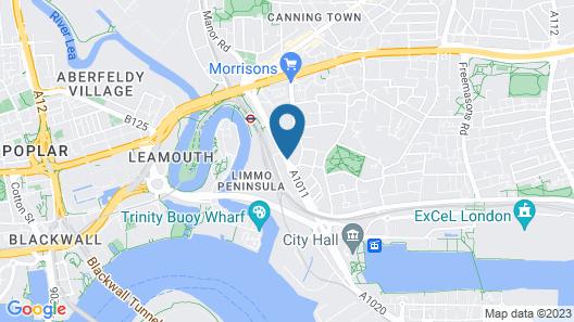 Holiday Inn Express London-Royal Docks, Docklands Map