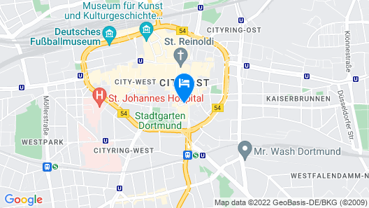 Mercure Hotel Dortmund Centrum Map