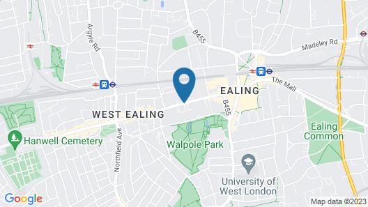 Travelodge London Ealing Map