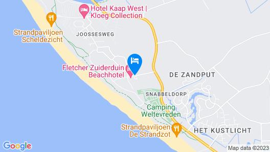 Fletcher Zuiderduin Beachhotel Map