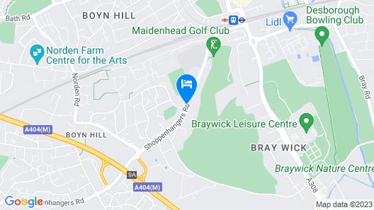 Fredrick's Hotel Restaurant & Spa Map