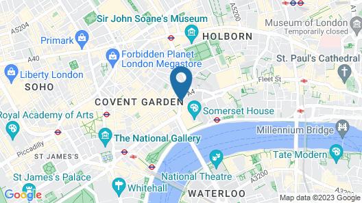 The Waldorf Hilton, London Map