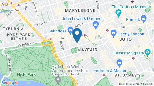 London Marriott Hotel Grosvenor Square Map