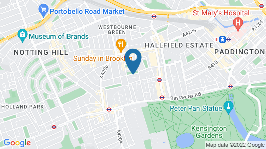 Park Avenue Bayswater Inn Hyde Park Map