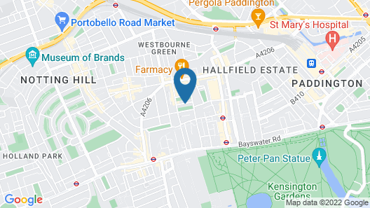 Pembridge Palace Hotel Map