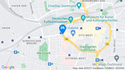 Hotel Unique Dortmund Hauptbahnhof Map
