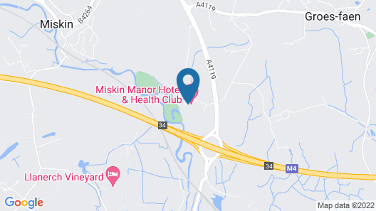 Miskin Manor Hotel And Health Club Map