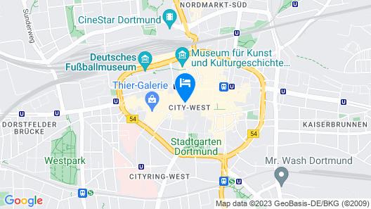 Coffee Fellows Hotel Dortmund Map