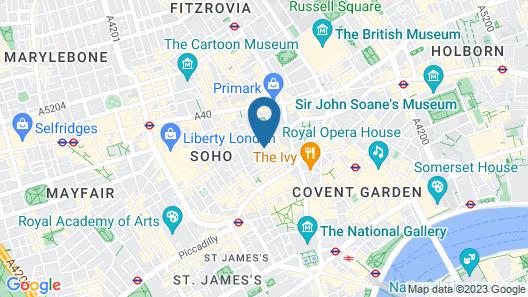 Mimi's Hotel Soho Map