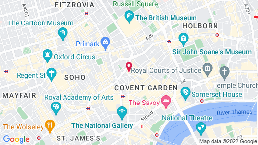 Radisson Blu Edwardian Mercer Street Hotel, London Map