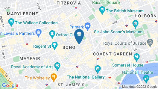 The Soho Hotel, Firmdale Hotels Map