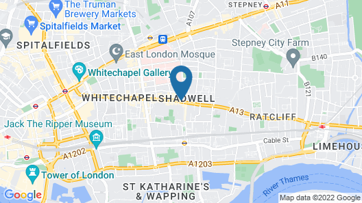 Holiday Inn London - Whitechapel Map