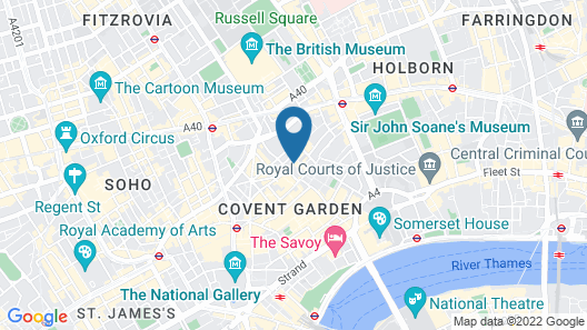 Stayo Homes Covent Garden Map
