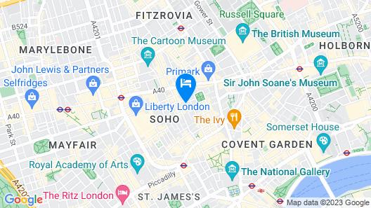 The Resident Soho Map