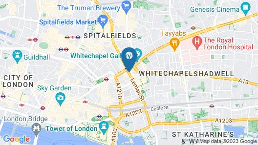 Clayton Hotel City of London Map
