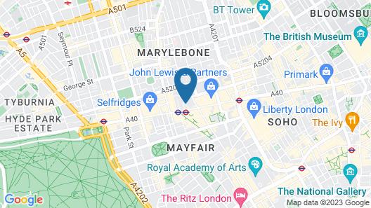 Radisson Blu Edwardian Berkshire Hotel, London Map