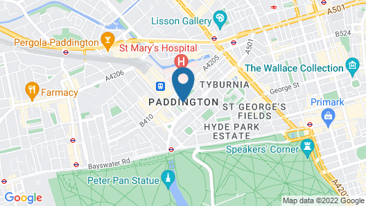 Hotel Indigo London Hyde Park Paddington Map