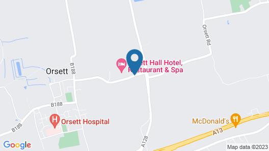 Orsett Hall Hotel Map