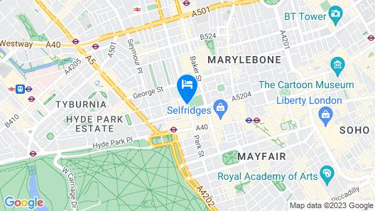 Hyatt Regency London The Churchill Map